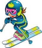 Schätzchen-Skifahrer-Spieler stock abbildung