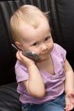 Schätzchen am Telefon Lizenzfreie Stockfotografie