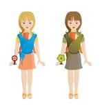 Schätzchen-tragende Mütter Lizenzfreie Stockbilder