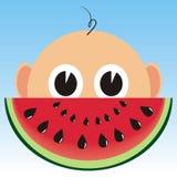 Schätzchen und Melone Stockfotos