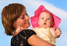 Schätzchen und Mutter Lizenzfreies Stockfoto