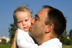 Schätzchen und Vater Stockfotos