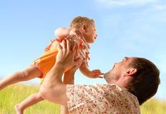 Schätzchen und Vater Lizenzfreie Stockfotografie