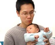 Schätzchen und Vater Stockbilder