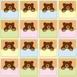 Schätzchenbrown-Bären-nahtloses Muster Stockbilder