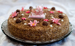 Schätzchenduschekuchen Stockfoto