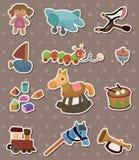 Schätzchenspielzeugaufkleber Stockbilder