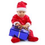 Schätzchenweihnachten mit Geschenk stockbild