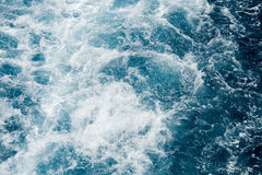 Schäumendes Mittelmeerwasser Lizenzfreies Stockfoto
