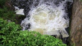 Schäumendes Wasser des Wasserfalls stock video