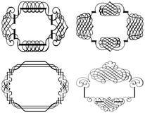 Schéma Art Vector d'agrafe d'ornement de Calligraphia Image stock