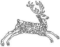 Schéma Art Vector d'agrafe de cerfs communs de Calligraphia Photographie stock libre de droits