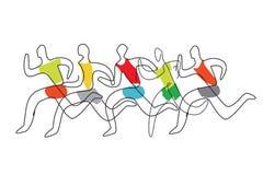 Schéma courant course stylisé photo libre de droits