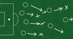 Schéma d'équipe de football Image libre de droits