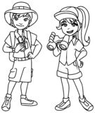 Schéma enfants d'aventure illustration de vecteur