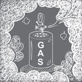 SCHÉMA fumée de réservoir de GAZ Photographie stock