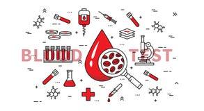 Schéma illustration de vecteur d'analyse de sang Images libres de droits