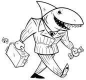 Schéma requin d'affaires illustration libre de droits