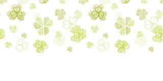 Schéma texturisé textile de trèfle horizontal Image stock