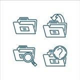 Schéma vecteur d'icône de dossier Photo libre de droits