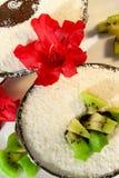 Schön gediente Eiscreme Stockbild