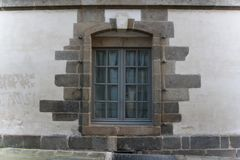Schön gestaltetes Klassensteinfenster stockfoto