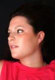Schön im roten Portrait Lizenzfreie Stockfotos