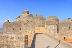 Schön instandgehaltenes Fort diu Gujarat Indien Stockfoto