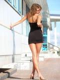 Schön, sexy, schreiben Junge Frau Stockbild