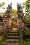 Schön verziert mit traditionellem Balineseeingang zum Haus Ubud Stockbilder