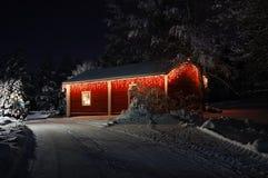 Schön verziertes Weihnachtshaus Lizenzfreies Stockbild