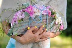 Schön von den künstlichen Blumen Stockfotografie