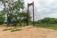 Schön von der Seilbrücke in Nationalpark Kaeng Krachan, Phetcha Stockfotografie