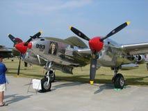 Schön wieder hergestellte seltene Beleuchtung Lockheeds P-38 Lizenzfreie Stockfotografie
