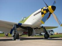 Schön wieder hergestellter klassischer Mustang Nordamerikaners P-51D Stockbilder