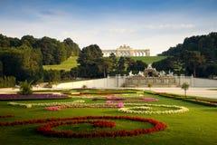 Schönbrunn Castle, Vienna. Schönbrunn Castle in vienna with beautiful gardens in foreground Stock Photos
