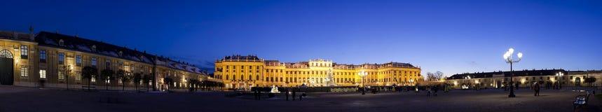 Schönbrunn Castle, Vienna. Schönbrunn Castle in vienna. Panorama shot at sunset Royalty Free Stock Photography