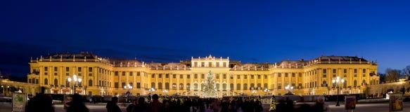 Schönbrunn Castle, Vienna. Schönbrunn Castle in vienna. Panorama shot at sunset Royalty Free Stock Image