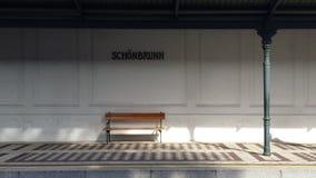 Schönbrunn Metro stop royalty free stock images