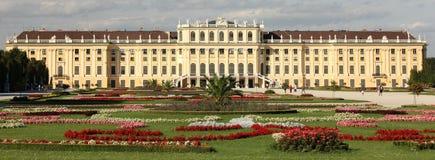 Schönbrunn Palace. And flowery gardens Stock Photos