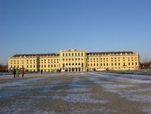 Schönbrunn Palace. Schönbrunn, former residence of the powerful Habsburg empire. Although the epoch of the monarchy is over since almost a century the palace Royalty Free Stock Photo