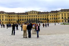 Schönbrunn Palace. (German: Schloss Schönbrunn) is a former imperial summer residence located in Vienna, Austria. The 1,441-room Baroque palace is one of stock photo