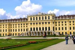 Schönbrunn Palace. (German: Schloss Schönbrunn) is a former imperial summer residence located in Vienna, Austria. The 1,441-room Baroque palace is one of stock photography