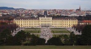Schönbrunn Palace, Vienna, Austria. Vienna, Austria - December 2011 : Schönbrunn (literally translated into English means beautiful fountain) was the summer Royalty Free Stock Photos