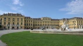 Schönbrunn Palace in Vienna stock video footage