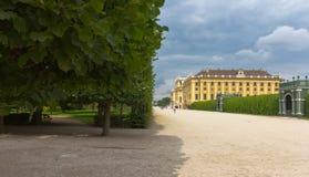 Schönbrunn Palast und Garten stockbild