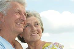 Schöne ältere Paare Stockfotografie