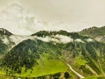 Schöne üppige grüne Berge lizenzfreies stockbild