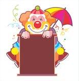 Schöne Abbildung eines Clowns lizenzfreie abbildung