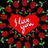 Schöne Abbildung Herz gemacht von der Retro- Weinlese der Blumen Stockfoto